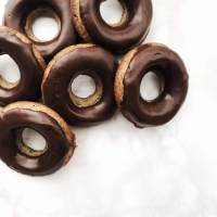 Chocolate Banana Doughnuts